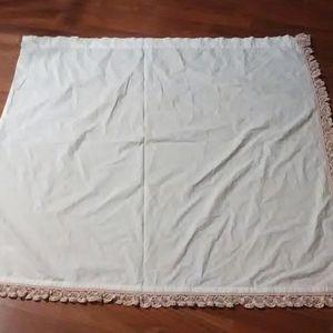 Vintage Accents - 1 Vintage lace crochet trim plain cotton curtain